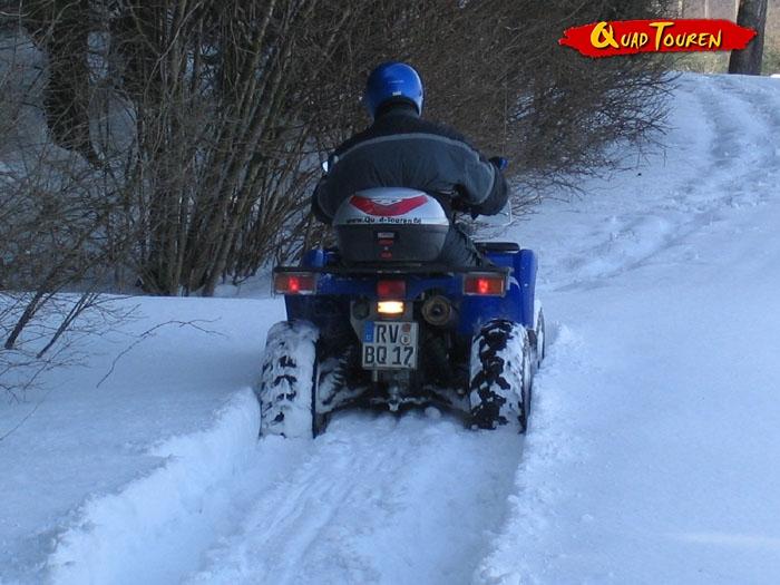 Quad Schnee Tour